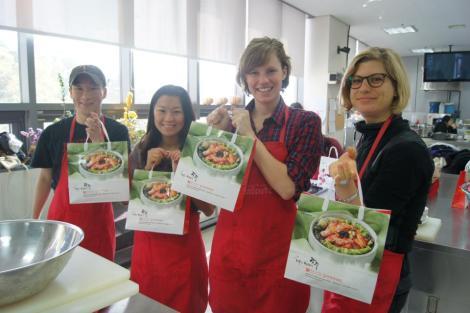 making kimchi in gwangju