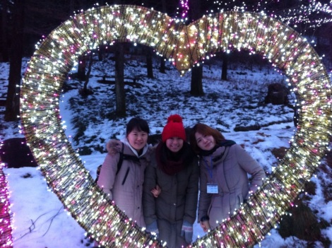 Namiseom with my Korean birth sisters