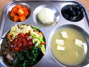 Korean school lunch