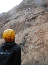 Rock climbing in Wochulsan, Korea