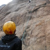 Rock climbing in Wochulsan, Korea