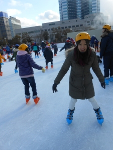 Ice Skating in Korea: Helmets Required