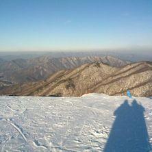 Skiing at Muju
