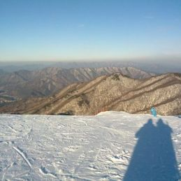 Skiing at Muju