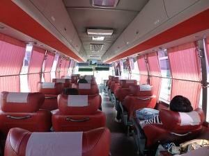 """Comfortable """"excellent"""" bus."""