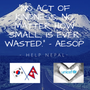 Donate for earthquake relief in Nepal!