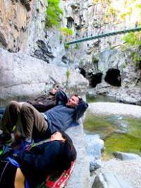 Watching the rock climbers is hard work!