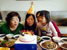 Omma and my birthdays