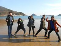 Namhae with the taekwondo team