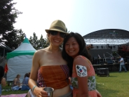 Upside down Korean flag. Woops. Blue Green music festival