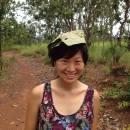 Banana leaf hat in Thailand