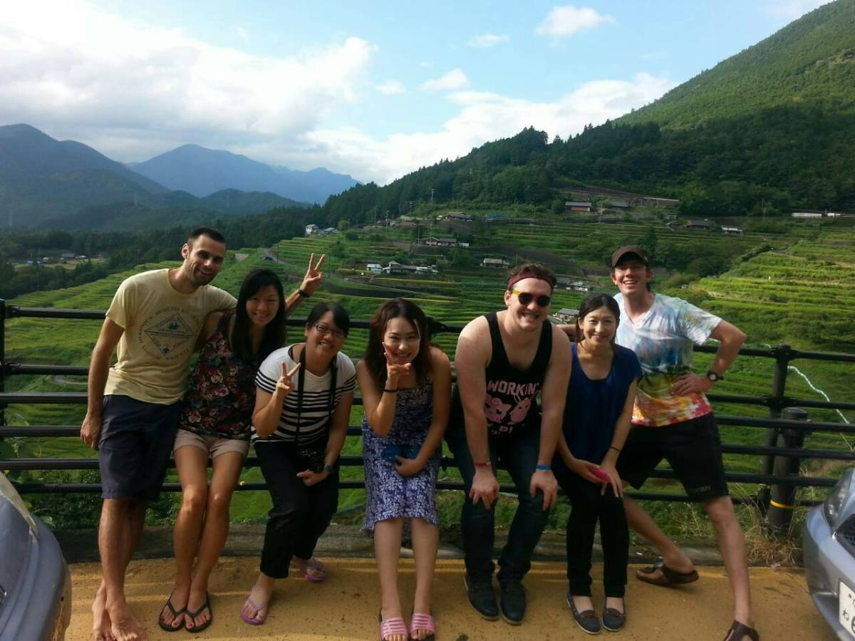 Japan Tea Fields with new CouchSurfing Friends Nara