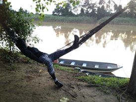 Resting in Borneo