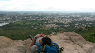 Laying in Hampi, India