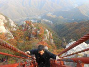Daedunsan with my birth father in Korea