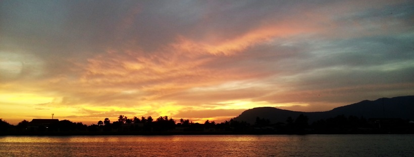 Kampot, Cambodia. Another lovely sunset