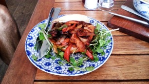 Roasted Vegetable Bagel at Epic Arts Cafe in Kampot, Cambodia