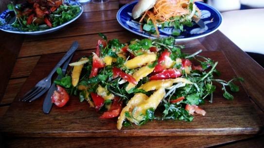 Crunchy Kerala Salad with Mangoesat Epic Arts Cafe in Kampot, Cambodia