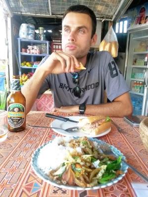 Lao food beerlao dark