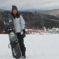 Snowboarding in Pyeongchang, South Korea