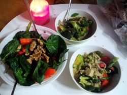 Green curry & fresh salads. Getting a decent salad in Korea is not an easy feat