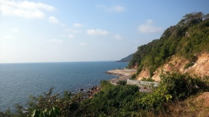 Cycling around King Wiman Beach, Thailand