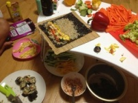 brown rice kimbap