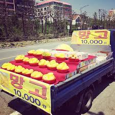 korea fruit truck
