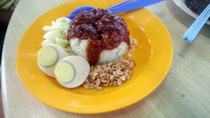 Nasi lemak  vegetarian penang