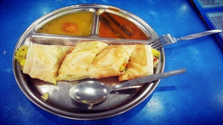 roti canai vegetarian roll penang