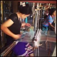 Traditional weaving Luang Prabang Laos
