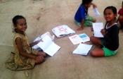 Visiting the art school in Battambang