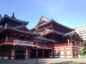 Osu Kannon temple near a trendy shopping district