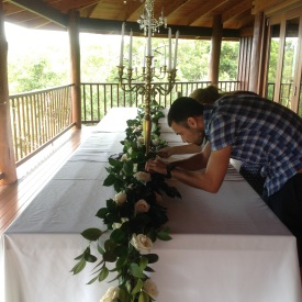 Floral arrangements for a wedding in Queensland, Australia