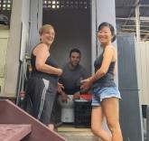 Helping Margot in Sydney