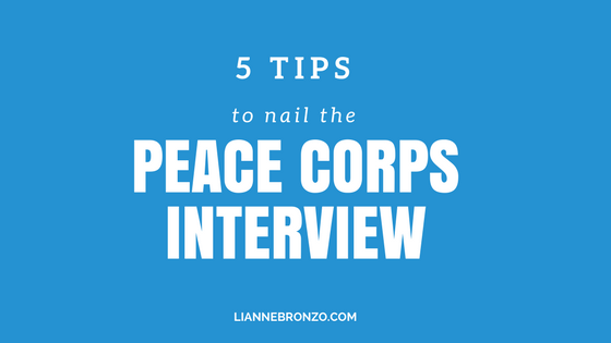 5 tips to nail the Peace Corps Interview