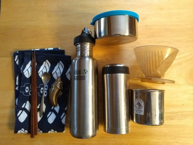 travel zero waste kit plastic frees stainless steel