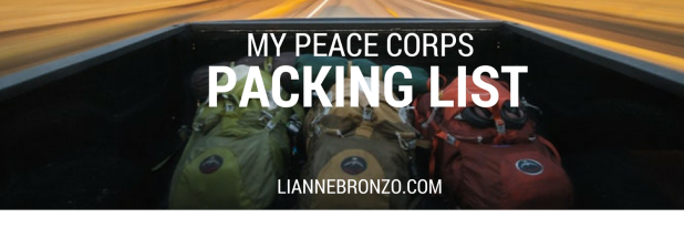 Peace Corp Zambia packing list 2018