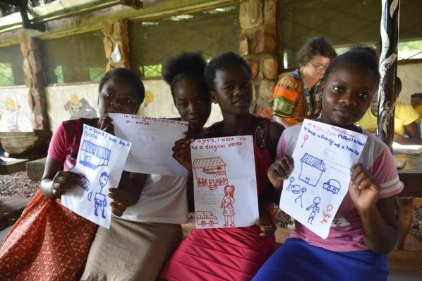 GLOW Camp girls envisioned their 10-year goals